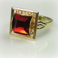 Elizabeth Square Ruby Ring
