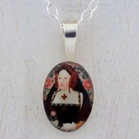 Katherine of Argagon Sterling Silver Mini Oval Pendant