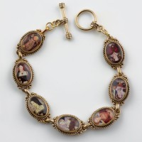 King Henry VIII and His Six Wives Bronze Bracelet