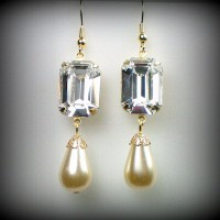 Elizabeth Octagon Crystal Earrings