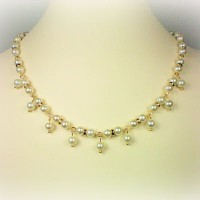 Elizabeth Pearl Dangle Necklace