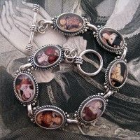 King Henry VIII and his Six Wives Sterling Silver Bracelet