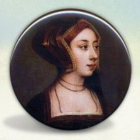Anne Boleyn Gable Hood Portrait Pocket Mirror
