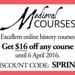 Medieval Courses – Spring Sale