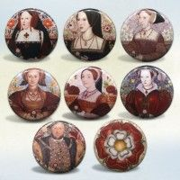 Henry VIII and Six Wives Buttons or Magnets