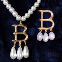 B Necklace and Brooch Set