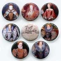 Elizabeth I Button or Magnet Set