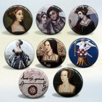 Anne Boleyn Button or Magnet Set