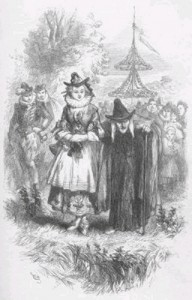 "Anne Redferne and ""Chattox"" depicted in the novel ""The Lancashire Witches"""