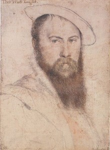 Sir Thomas Wyatt by Hans Holbein
