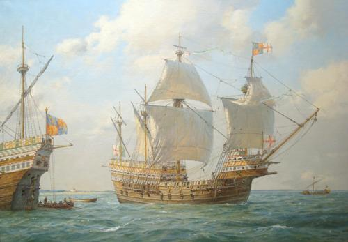 New Geoff Hunt Painting of the Mary Rose