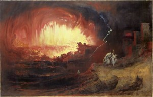 The Destruction Of Sodom And Gomorrah - the cities destroyed by fire and brimstone because of their sinful people
