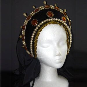 Lady Amelia French Hood with Topaz Cabochons
