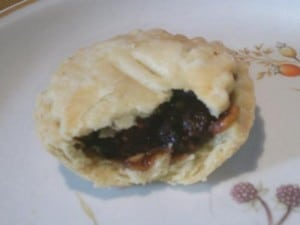 One of my homemade mince pies