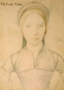 """""""The Lady Parker"""" a portrait once thought to be Jane Boleyn (nee Parker) but which is probably Grace Newport, Jane's sister-in-law"""