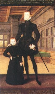 Henry Stuart, Lord Darnley, with his younger brother Lord Charles Stuart