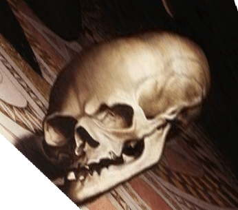 The skull hidden in the painting