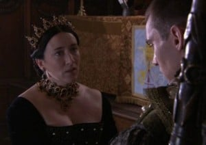 """The Legatine Court scene from """"The Tudors"""" series."""