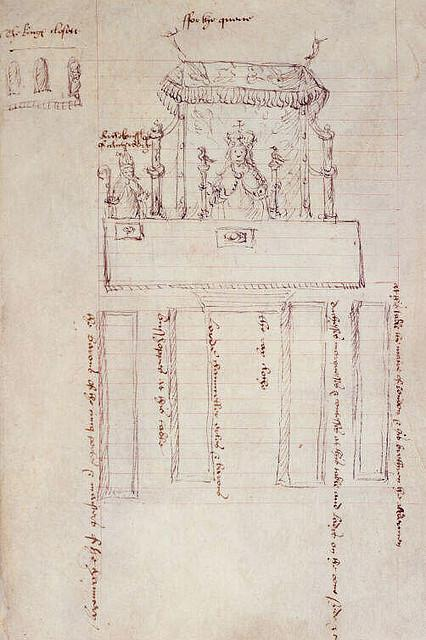 Seating plan for Anne Boleyn's coronation feast.