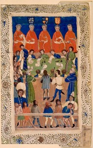 A 15th century illumination of Justices of the King's Bench