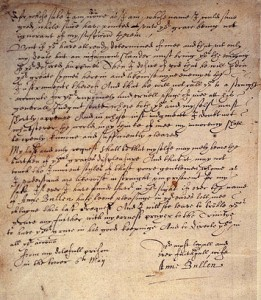 Letter from the Lady in Tower
