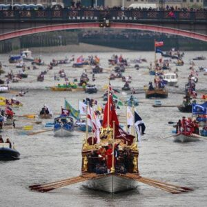 The Queen's diamond jubilee river pageant - Perhaps Anne's coronation one was like this.