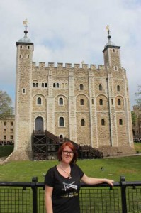 Claire Ridgway at the Tower of London