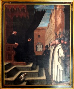 The Carthusian Monks appearing before Cromwell. Copyright Tim Ridgway