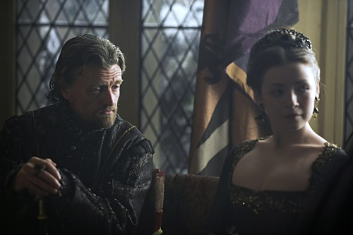 Chapuys and Mary in The Tudors series