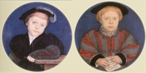 Henry and Charles Brandon, miniatures by Hans Holbein the Younger