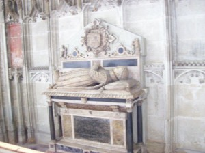 """The tomb of Robert Dudley, """"the noble impe"""""""