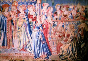 Tapestry depicting the marriage of Mary Tudor and Louis XII