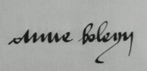 Anne Boleyn Signature