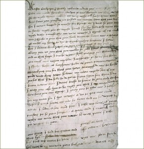 Catherine Howard Letter to Culpeper