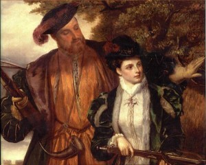 Henry VIII and Anne Boleyn Hunting