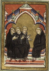 Benedictine monks seated in chapter