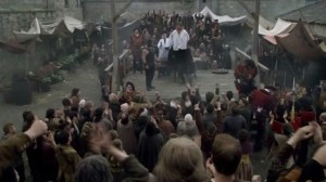 The execution of Francis Dereham, The Tudors series
