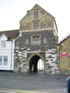 Fishergate in Sandwich, one of the medieval town gates