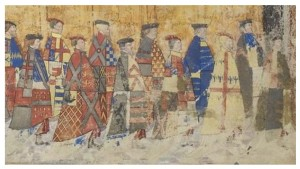 Thomas Boleyn in an Order of the Garter procession - he is second from the right.