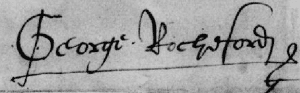 George Boleyn signature