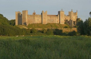 Framlingham Castle, Suffolk, where Lady Anne was born in December 1472, and where her father, the 4th Duke of Norfolk, died in January 1476.