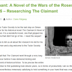 The Claimant: A Novel of Wars of the Roses Book Tour Final Stop
