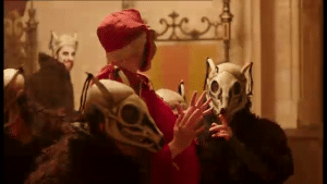 The masque scene from BBC2's Wolf Hall