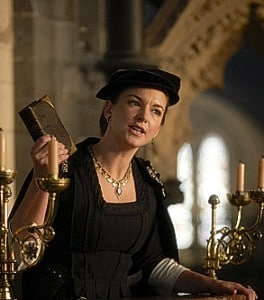 """Emma Stansfield as Anne Askew in """"The Tudors""""."""