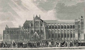The coronation procession of Anne Boleyn to Westminster Abbey