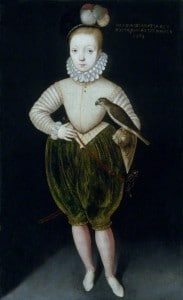 James I (James VI) as a boy, attributed to Rowland Lockey, after Arnold Bronckorst.